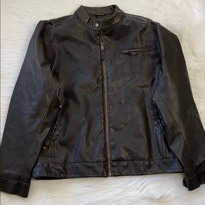 Men Arizona Leather Jacket/ Size:M